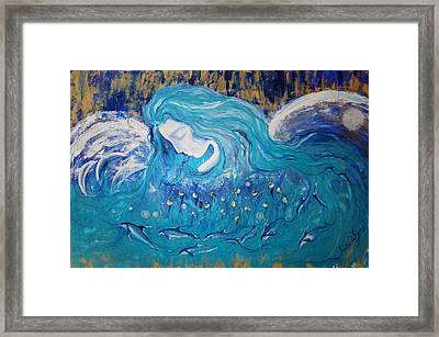 Angels Of The Sea.. Wild Dolphins Framed Print