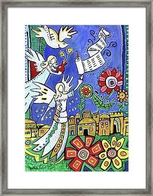 Angels Over Jerusalem Framed Print