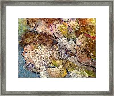 Angels Overhead Framed Print