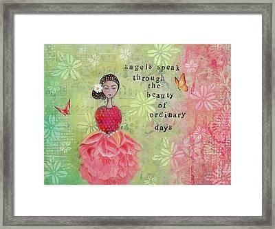 Angels Speak Framed Print by Margaret Goodwin