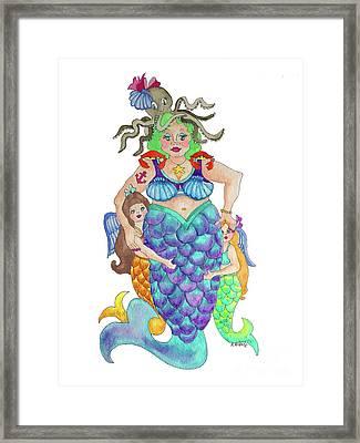 Angels Swim Among Us Framed Print