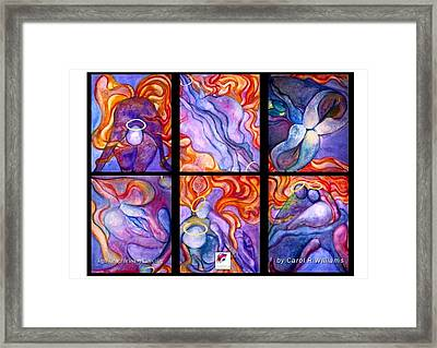 Angels Through The Looking Glass Framed Print