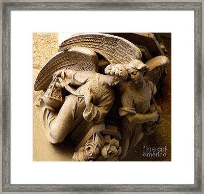 Angels Watch Over Me Framed Print