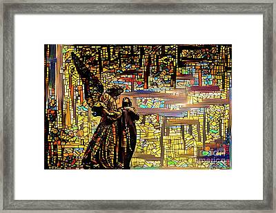 Angels Watching Over 3 Framed Print