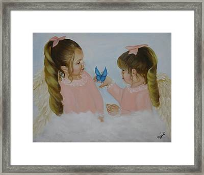 Angels With Wings Framed Print by Joni McPherson
