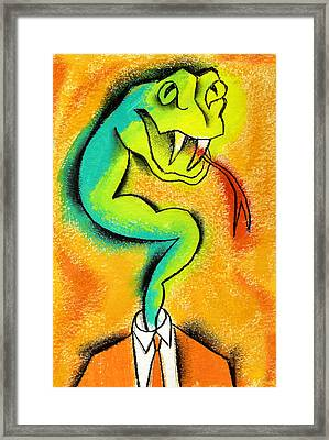 Anger Control Framed Print by Leon Zernitsky