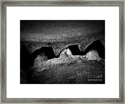 Anger In Monochrome Framed Print