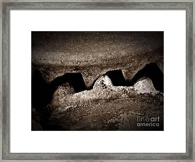 Anger In Sepia Framed Print