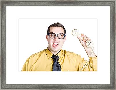 Anger Management Boss With Phone Handle Framed Print by Jorgo Photography - Wall Art Gallery
