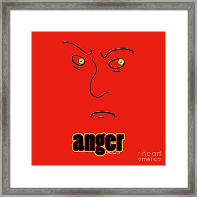 Anger Framed Print by Methune Hively