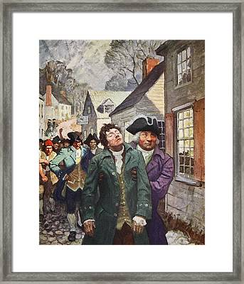 Anger Splits The Country  Framed Print by Newell Convers Wyeth