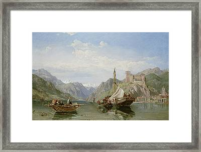 Angera On Lake Maggiore Framed Print by George Clarkson Stanfield