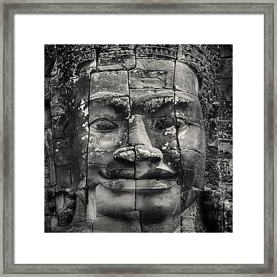 Angkor Face Framed Print