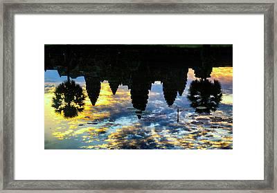Angkor Reflections Framed Print