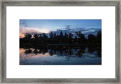 Angkor Sunrise Impression Framed Print