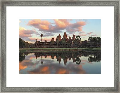 Angkor Sunset Framed Print by Ryan Scholl