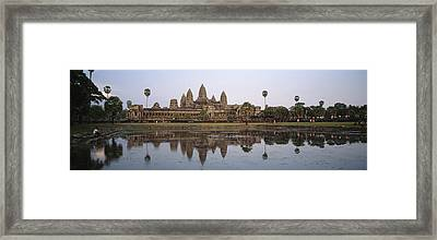 Angkor Wat, A Buddhist Temple Framed Print by Justin Guariglia