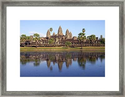Angkor Wat Framed Print by Liz Pinchen