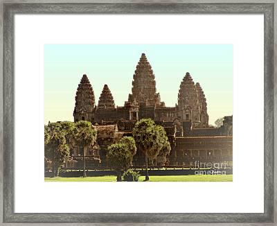 Angkor Wat Spires Framed Print by Linda Parker