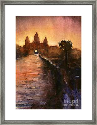 Angkor Wat Sunrise 2 Framed Print by Ryan Fox
