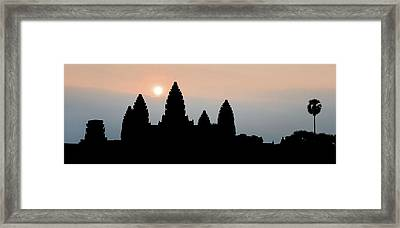Angkor Wat Sunrise Framed Print by Dave Bowman