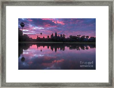 Angkor Wat Sunrise Framed Print by Mike Reid