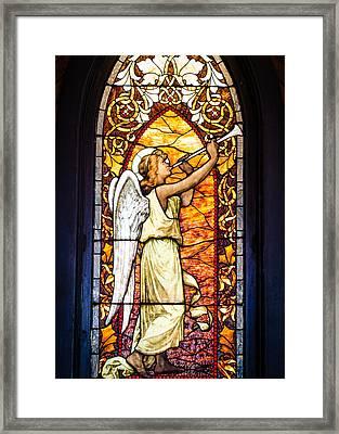 Angel In Glass Framed Print