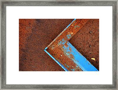 Angle Iron...raw Steel Framed Print
