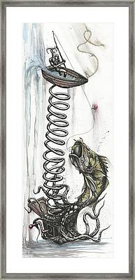 Angler's Adventurous Imagination Framed Print by Tai Taeoalii