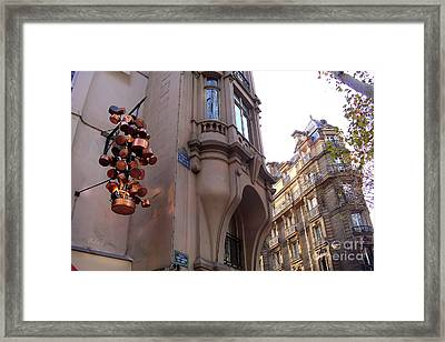 Angles And Details At Place Saint Andre Des Arts Framed Print