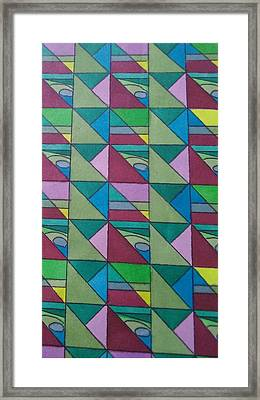 Angles And Triangles Framed Print by Modern Metro Patterns and Textiles