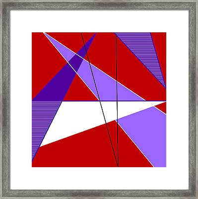 Angles And Triangles Framed Print
