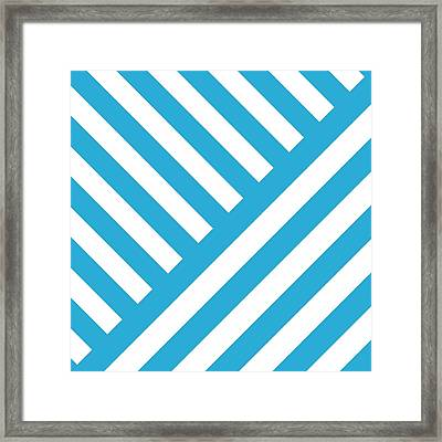 Angles Design With Your Custom Colors Framed Print by Mark E Tisdale