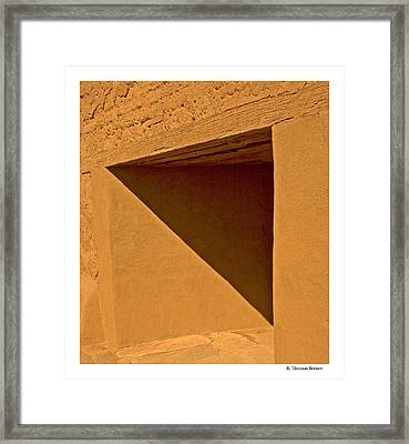 Framed Print featuring the photograph Angles by R Thomas Berner