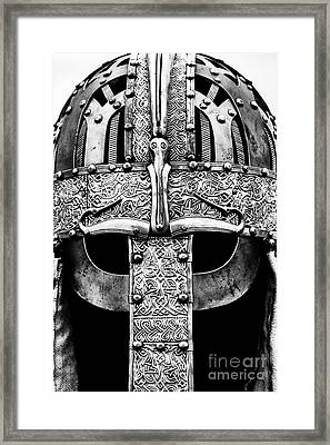 Anglo Saxon Helmet Monochrome Framed Print by Tim Gainey