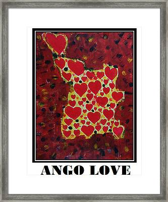 Ango Love Framed Print