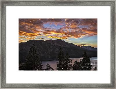 Angora Ridge Sunset 9 Framed Print