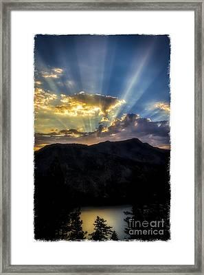Angora Ridge Sunset Framed Print
