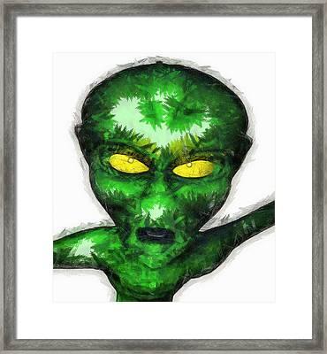 Angry Alien Framed Print by Raphael Terra