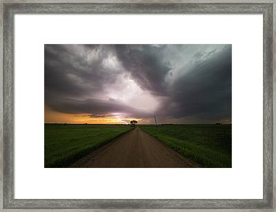 Angry Alien Ship Framed Print by Aaron J Groen