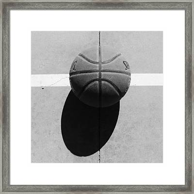Angry Basketball Imoji Framed Print