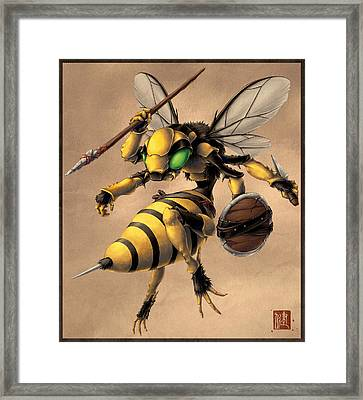 Angry Bee Framed Print by James Ng
