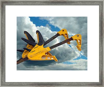 Angry Birds Clamps Framed Print by Lyric Lucas
