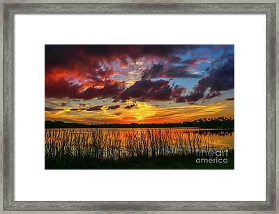 Angry Cloud Sunset Framed Print