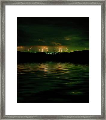 Angry Clouds Framed Print by Jerry McElroy