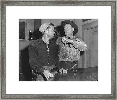 Angry Cowboy In A Bar Framed Print