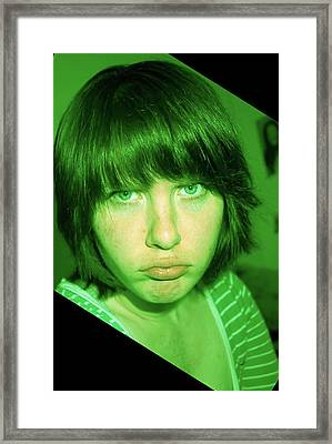 Framed Print featuring the photograph Angry Envy by Jane Autry