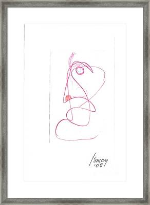 Angry Face - Gesture Drawing Framed Print