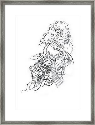 Angry Fairy Framed Print by Agnese Kurzemniece