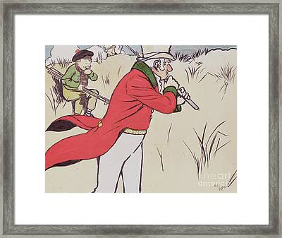 Angry Golfer Framed Print by Cecil Charles Windsor Aldin